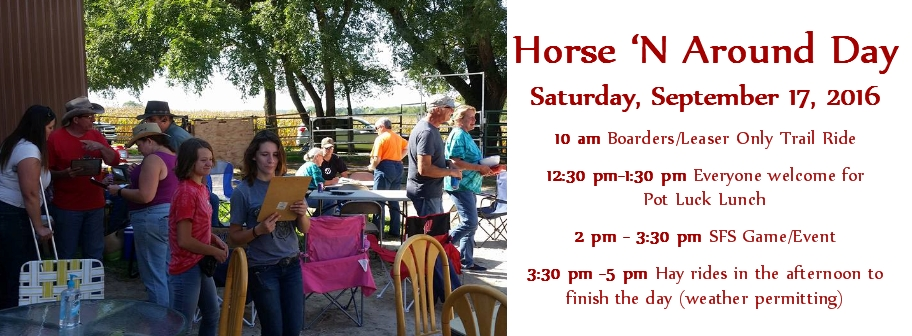 Join us this Saturday for Horse 'N Around Day!