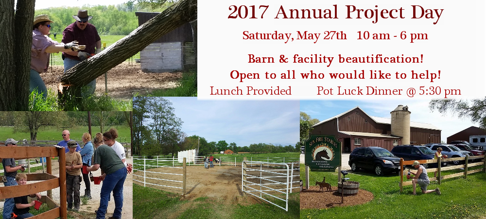 Come and help us beautify the barn and grounds during our annual Project Day!