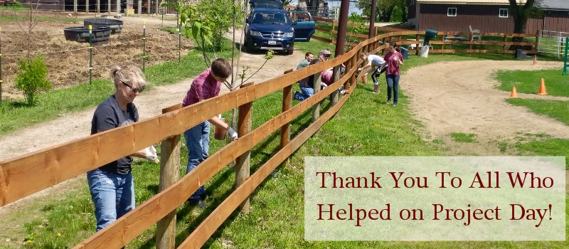 Thank you for coming out to beautify the barn and grounds during our annual Project Day!